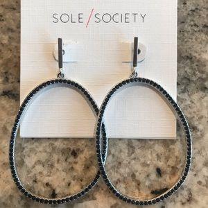 Sole Society Drop Hoop Earrings